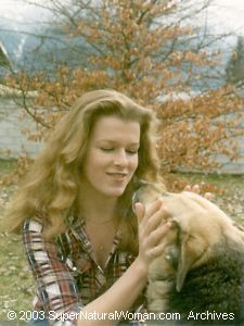 Young Katherine with dog
